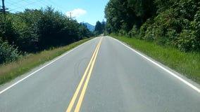Привод дороги Аляски сток-видео