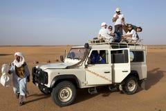 Привод на четыре колеса в пустыне Стоковая Фотография