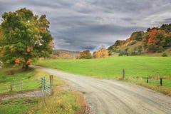 Привод осени в Вермонте Стоковое Изображение RF
