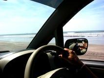 привод пляжа стоковое изображение rf