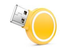 Привод вспышки USB. изображение 3d иллюстрация вектора