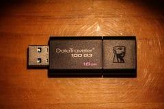 Привод вспышки USB Кингстона Стоковое Изображение