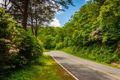 Привод горизонта, в национальном парке Shenandoah, Вирджиния Стоковые Изображения RF