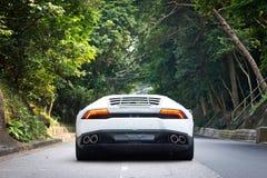 Привод испытания Lamborghini Huracan LP610-4 2014 Стоковые Изображения
