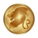 Привод медальона золота Лео бесплатная иллюстрация