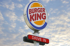 Привод логотипа Burger King внутри Стоковые Фото