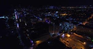 Привод океана взгляда ночи Южный пляж, Miami Beach, Флорида США акции видеоматериалы