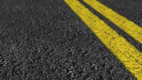 Привод дороги улицы сдвоенной линии сток-видео