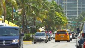 Привод 4k океана Miami Beach сток-видео