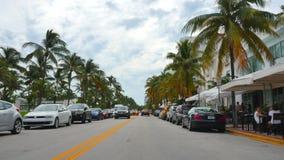 Привод Miami Beach 4k 8 океана акции видеоматериалы