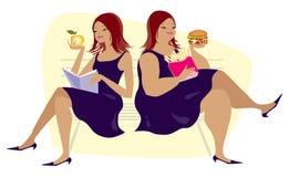 привычки еды иллюстрация вектора