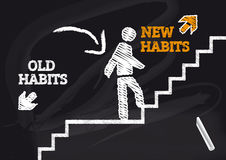 Привычки старых привычек новые Стоковые Изображения