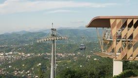 Привяжите веревочку в горах, Батуми, Georgia сток-видео