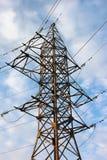 привязывает передачу башни силы Стоковое Изображение RF