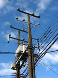 привязывает телефон электричества Стоковое фото RF