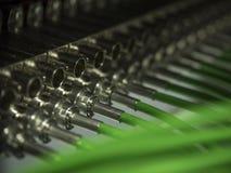 Привязывать пульта временных соединительных кабелей Bnc Стоковая Фотография