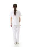 Привлекательная азиатская медсестра от задней части стоковые изображения rf