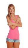 привлекательная белокурая девушка Стоковое Изображение RF