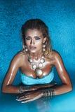 привлекательная блондинка красотки Стоковое Фото