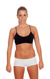 Привлекательная девушка с нижним бельем Стоковое Фото