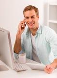 Привлекательная деятельность бизнесмена Стоковое Изображение RF
