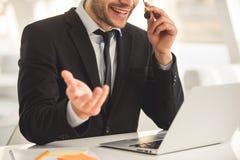 Привлекательная деятельность бизнесмена Стоковые Изображения