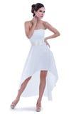 Привлекательная женщина в шикарном платье стоковые изображения