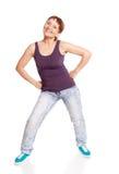 Привлекательная женщина 50 лет танцевать стоковая фотография rf