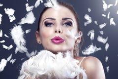 привлекательная женщина портрета красотки Стоковые Изображения