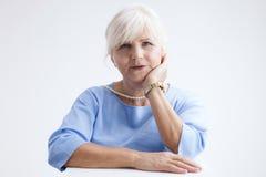 привлекательная женщина старшия портрета Стоковое Изображение
