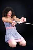 Привлекательная женщина с связанными руками Стоковая Фотография RF