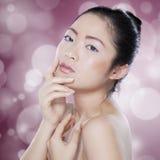 Привлекательная китайская модель с здоровой кожей Стоковая Фотография RF