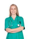 Привлекательная медицинская девушка Стоковая Фотография RF