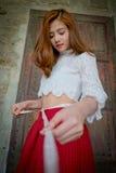 Привлекательная молодая женщина Стоковое Изображение