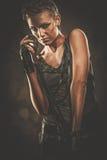 Привлекательная певица steampunk Стоковые Фотографии RF