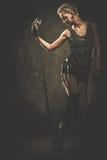 Привлекательная певица steampunk Стоковые Изображения