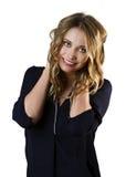 Привлекательная сексуальная профессиональная женская модель с светлыми волосами Стоковое Изображение RF