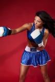 Привлекательное бой женщины Стоковое Изображение
