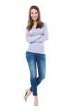 Привлекательное положение женщины стоковое изображение rf