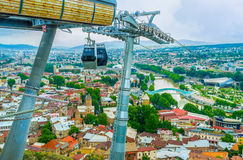 Привлекательности в старом Тбилиси Стоковая Фотография