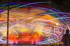 Привлекательность парка зрелищности на ноче Стоковая Фотография RF