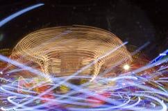 Привлекательность парка зрелищности на ноче Стоковое Изображение RF