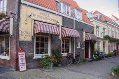 Привлекательно старомодный магазины европейца Стоковая Фотография