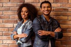 Привлекательные Афро-американские пары Стоковые Фотографии RF