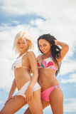 Привлекательные девушки в купальниках Стоковое Изображение RF