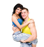 Привлекательные пары шаловлива Стоковые Изображения RF
