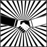 привлекательные руки руки коллегаов дела предпосылки трястиют трястить команду Стоковые Фото