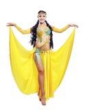 привлекательные танцульки танцора танцульки живота одевают восточный помеец девушки Стоковые Изображения RF