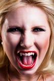 Привлекательный белокурый вампир стоковые фотографии rf