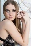 привлекательный белокурый портрет девушки Стоковая Фотография